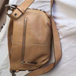 Coach tan leather shoulder